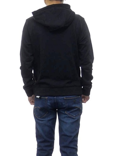 Armani Exchange Armani Exchange 6Hyp84Yj2Rz1200 Kapüşonlu Uzun Kol Logo Baskılı Fermuarlı Erkek Sweatshirt Siyah